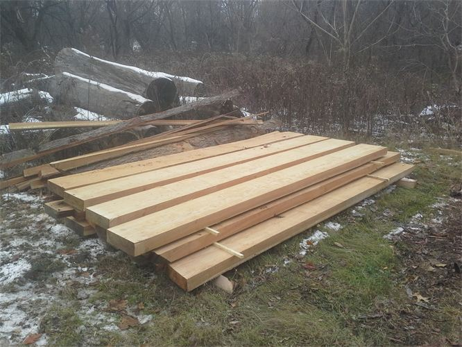 Tamarack milled for stairs