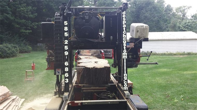 Milling an locust tree on-site