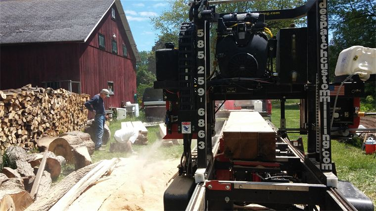 Milling an oak tree on-site