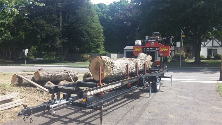 Milling a soft maple tree on-site